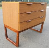 Small Teak Dressing Chest of Drawers